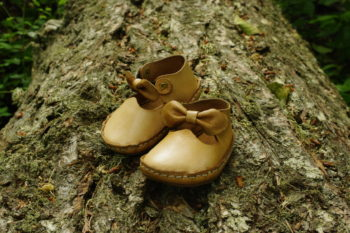 Baby moccasin - Sweet hart ribbon