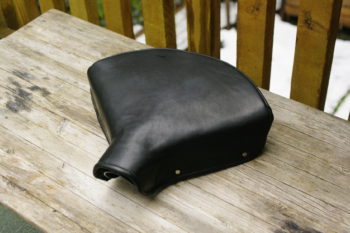 Leather Saddle for Antique British Motorcycle jumonji works