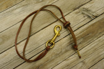 Brass Snap Leather Necklace Keychain Adjustable