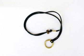 Brass O-ring Leather Lace Necklace Keychain Adjustable jumonji works